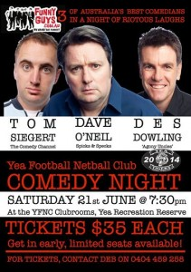 Yea Football Netball Club - June 21st