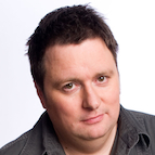 Head shot of Australian comedian Dave O'Neil.