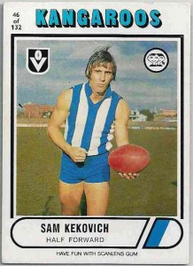 1976_VFL-AFL_Scanlens_46_Sam_Kekovich_North_Melbourne_Kangaroos
