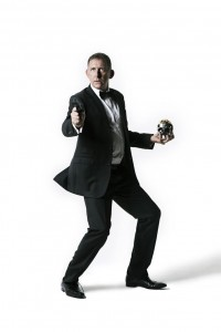 Comedian Peter Rowsthorn as James Bond